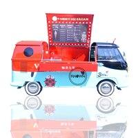 새로운 설계 전기 야외 모바일 아이스크림 카트 패스트 푸드 트럭 판매