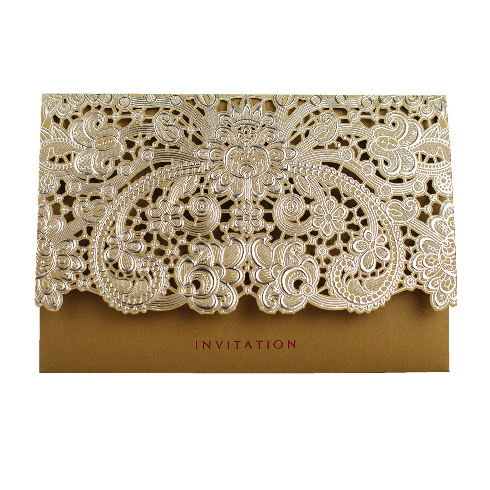 Red And Pink Wedding Invitations: 20pcs Pink / Red / Gold Laser Cut Wedding Invitations