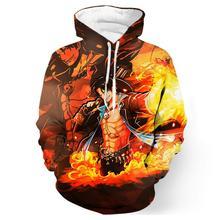 Portgas D. Ace 3D Hoodie Sweatshirt