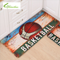 European Cup Football Basketball Rugby Cartoon Mats Non-Slip Mats Kitchen Bathroom Bedroom Carpet Floor Mats Door Cushion Rug