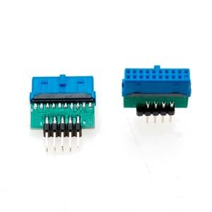 Image 5 - YuXi Adaptador USB 3,0 de 19 pines y 20 pines hembra a USB 2,0, macho de 9 pines, USB 3,0 de 19/20 pines a USB 2,0, de 9 pines Adaptador convertidor, Frente del chasis