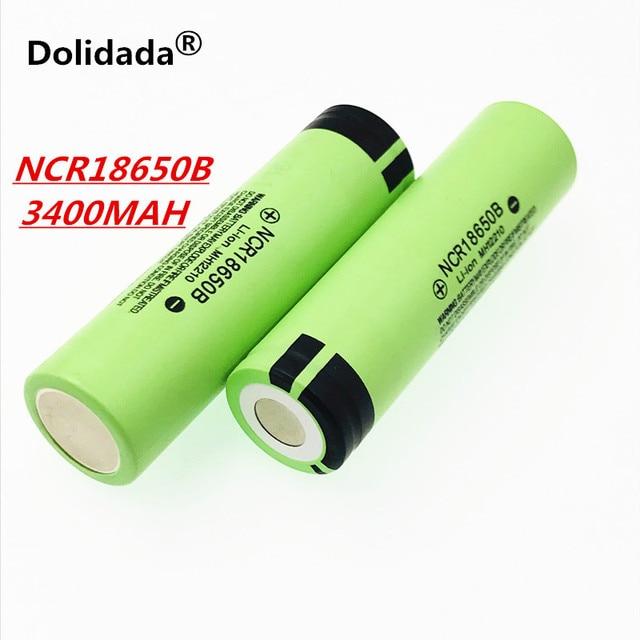 Dolidada 100% original 18650 battery 3400mah 3.7v lithium battery for panasonic NCR18650B 3400mah 3.7V flashlight battery. 2