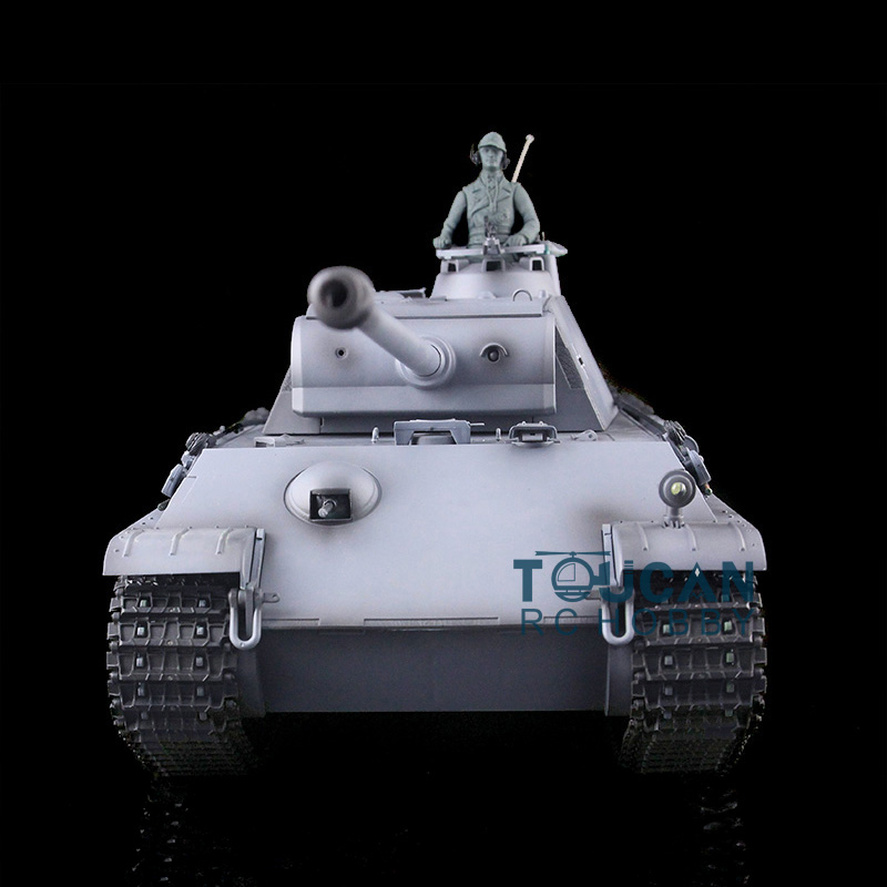 1/16 Scale Gray HengLong German Panther G RC RTR Tank Plastic Tracks Wheels 3879 henglong 3879 3879 1 1 16 rc tank parts metal drive wheels 2pcs set free shipping