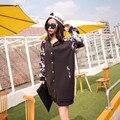 YONO New Fashion Women Jacket Casual College Long Baseball Jacket Patchwork Jaqueta Casaco Feminina Coat Cardigans Plus Size 4XL