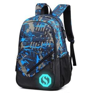 Image 2 - 2020 New Graffiti School Backpacks Men Fashion Students School Bags For Teenage Girls Boys Luminous Men Backpacks Travel Mochila