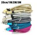 200 pcs de metal corda de cânhamo trançado cabo de carregamento usb para iphone 5 5s 6 s 6 7 Plus Mobile Phone Data Sync cable 20 cm 1 m 2 m 3 m Fio