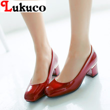 2017 popular sale spring summer shoes PLUS USA size 9 10 11.5 12.5 13 CLASSICS lady pumps high quality PU leather free shipping