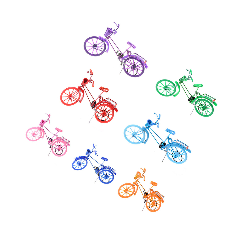 Colorful bicycle aluminum wire bike decoration Handmade crafts ...