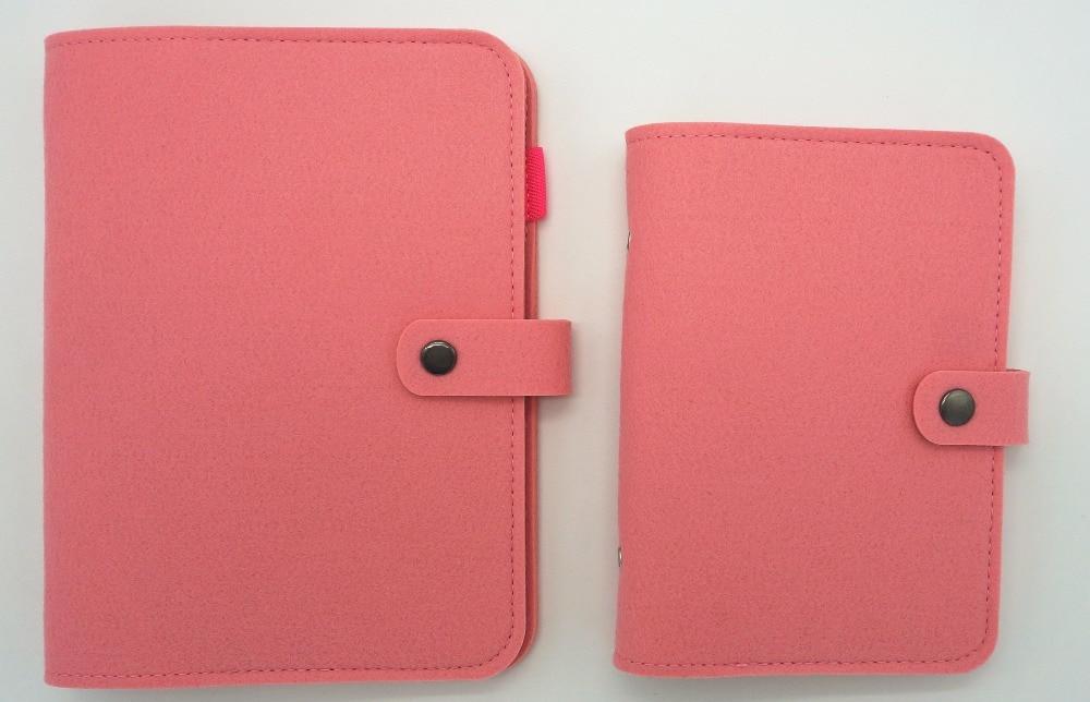 Wool Felt A5 A6 Vintage Loose Leaf Refillable Spiral Notebook Diary - Block och anteckningsböcker - Foto 5