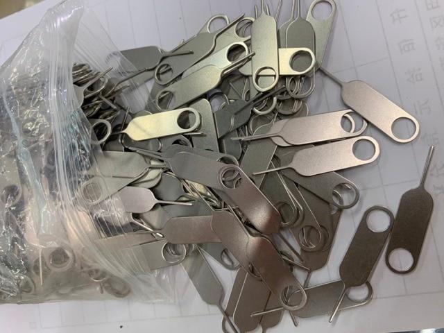 100 sztuk/partia taca karty SIM do demontażu wysunąć Pin igły klucz narzędzie do iPhonea 7 6 S 6 Plus 5 5S SE 5C 4 4S