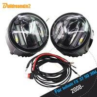 Buildreamen2 2 X Car LED Right Left Fog Light Daytime Running Lamp DRL 12V Accessories For