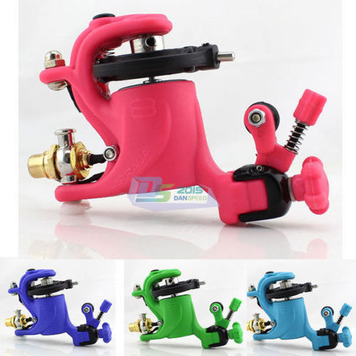 New Style Japan High Strength Plastic Frame Swashdrive Motor Rotary Tattoo Machine Gun Liner Shader & RCA Cord Kit Decor