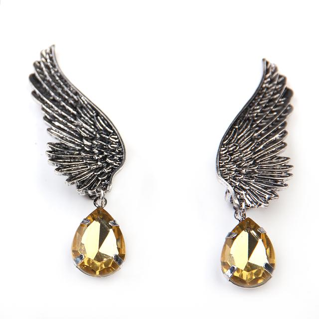 Best Selling Crystal Angel Wing Drop Earrings