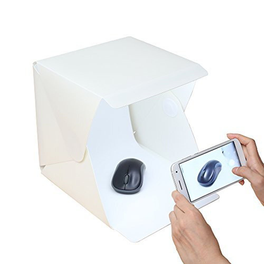 White Portable Folding Design Lightbox Photography Studio LED Light Soft Box Camera