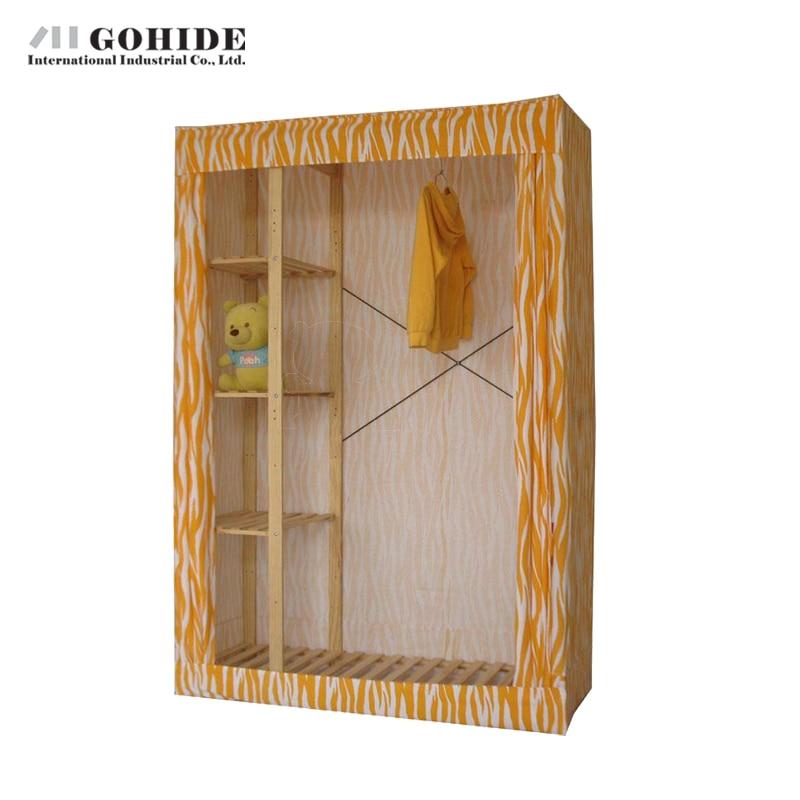 Gohide 132cm Wide Home Simple Wardrobe Double Big Wardrobe Storage Cabinet 953b Home Furniture Storage Clothes simple cm 379