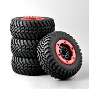 Image 5 - 4 pcs/set RC car 1:10 short course truck tires set tyre wheel rim fit for TRAXXAS SlASH HPI remote control car model toy parts