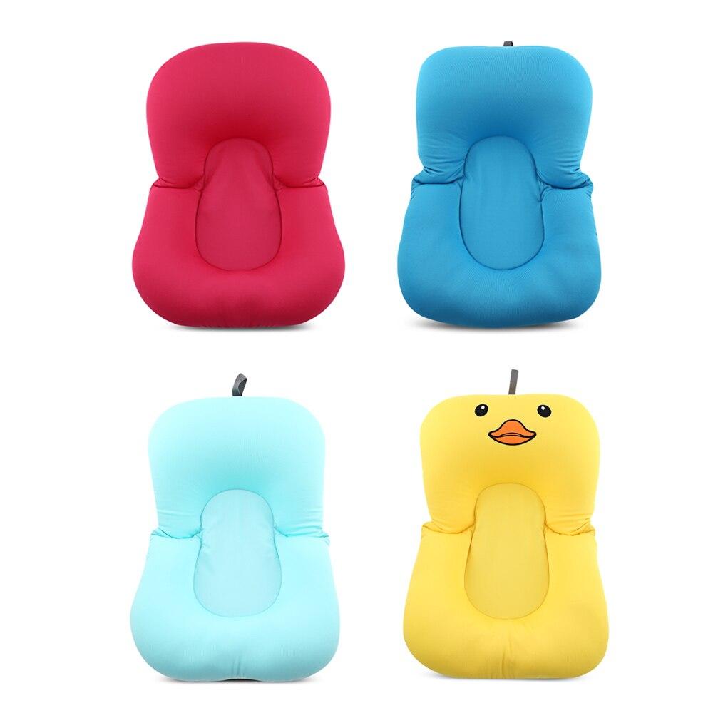Anti Skid Baby Bath Mat Foldable Shower Seat Infant Bathtub Lounger ...