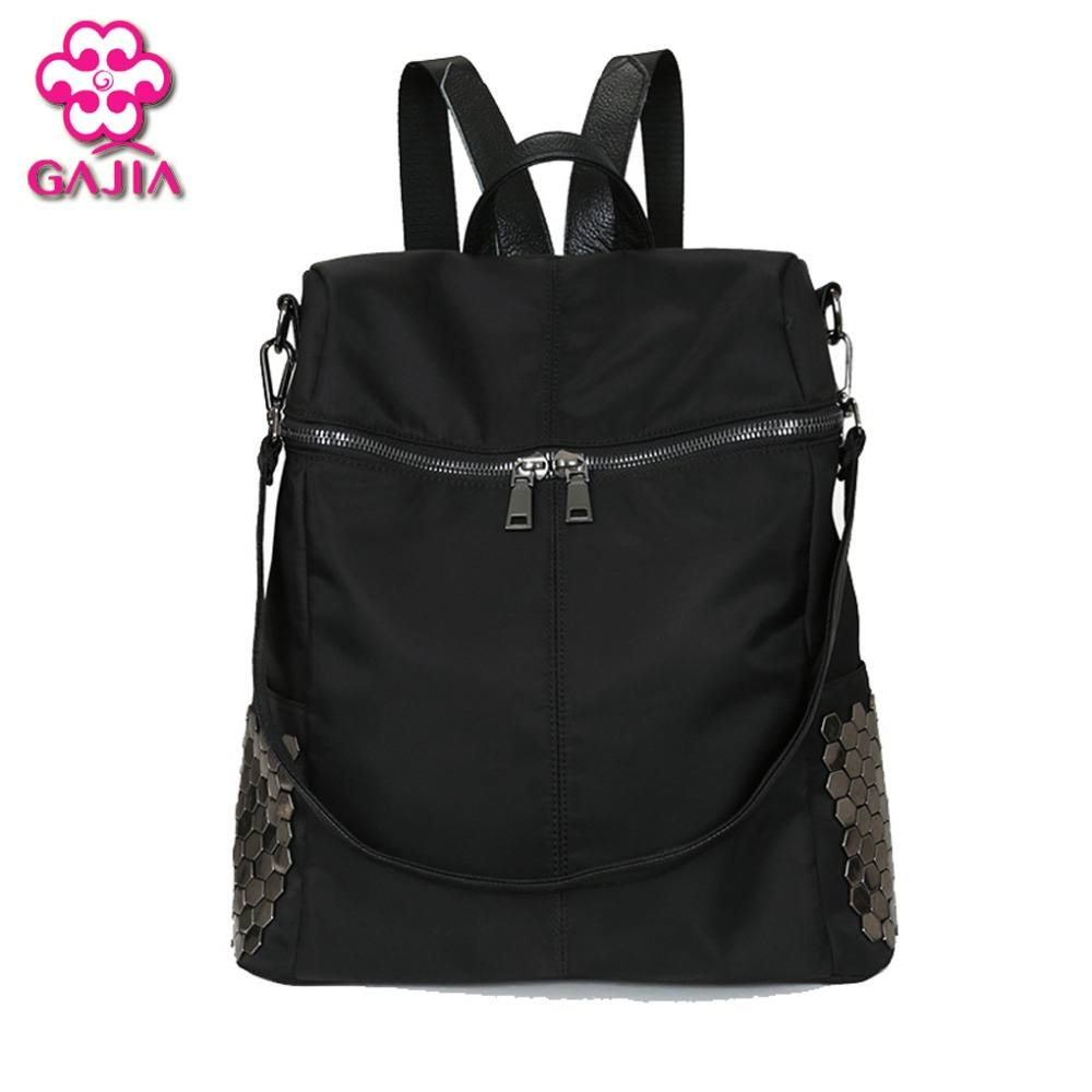 Hot Selling Fashion European American Style Famous Designer Brand Bags Women Backpacks PU Rivet Shoulders Bag - GAJIA store