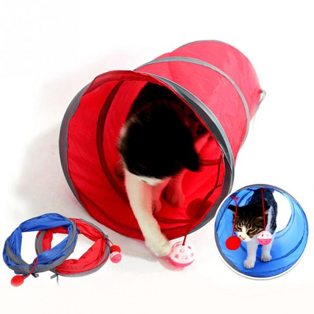 Gatos y perros mascotas juguetes plegable túneles Pet Supplies nuevo