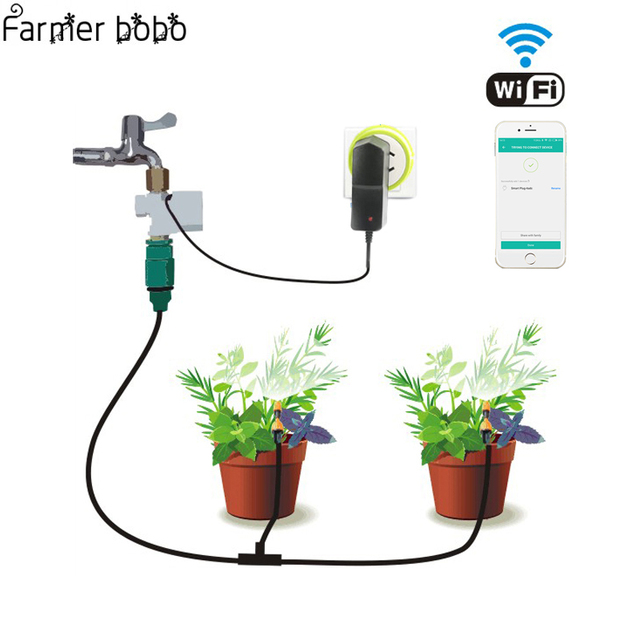 Phone Wifi Control Garden Irrigation System Drip irrigation   Garden Watering Timer Automatic  Sockets Home Timer Autoplay
