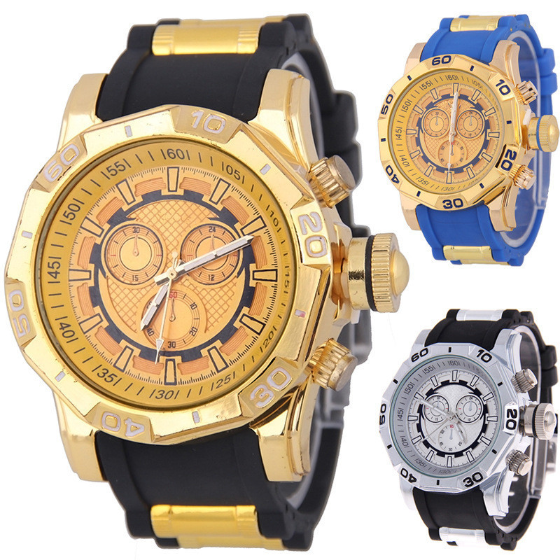 Explosive Fashion Sports Watch Disk SHHORS 1502 Watch Alloy Gold Watch Rotary Watch