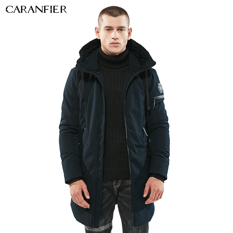 CARANFIER Brand Parka Men Winter Jacket Men Warm Thick Cotton-Padded Jacket Mens Parka Coat Male Fashion Thick Casual Coats Male 2017 winter jacket men cotton padded thick hooded fur collar mens jackets and coats casual parka plus size 4xl coat male