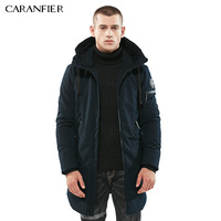 CARANFIER Brand Parka Men Winter Jacket Men Warm Thick Cotton Padded Jacket Mens Parka Coat Male