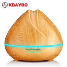 400ml Aroma Essential Oil Diffuser Ultrasonic Air Humidifier with Wood Grain 7 Color Changing LED Lights for Office Home Bedroom цены онлайн