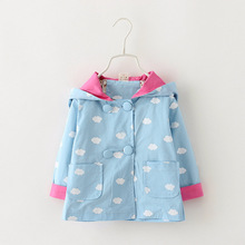 2016 new autumn and winter warm baby girl trench long sleeve hooded girls winter coat double