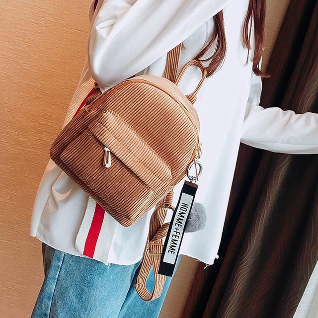 Cute velvet Backpack For Teenagers Children Mini Back Pack Kawaii Girls Kids Small Backpacks female Packbags Fur ball school bag (9)