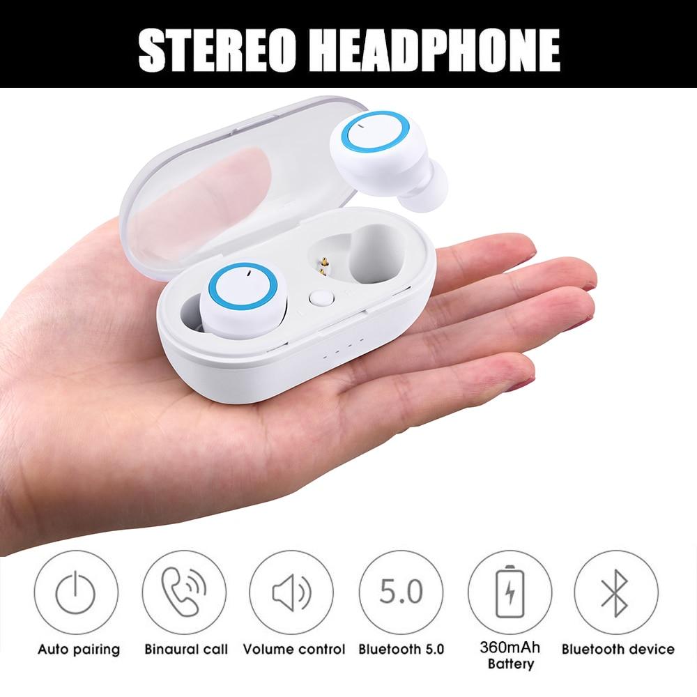 Беспроводные наушники kebidu TWS, Bluetooth 5,0, стереонаушники, водонепроницаемые спортивные наушники для телефона, гарнитура для игр с микрофоном
