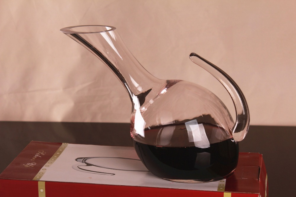 1PC 1000ml Unique Tumbler Clear Glass Wine Decanter Carafe Water Jug Wine Container Dispenser Wine Aerator