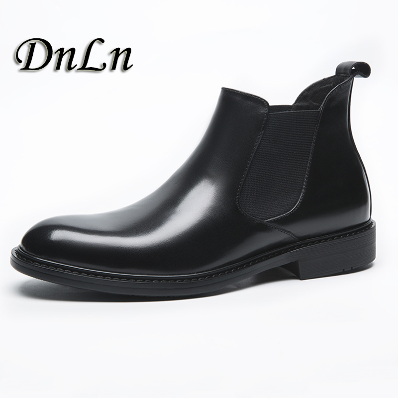2018 Genuine Leather Breathable Men Ankle Boots Male Flat Boots Slip-On Pointed Toe Chelsea Boots 20D50 british style men chelsea boots genuine leather breathable bullock martin boots pointed toe slip on ankle boots 033