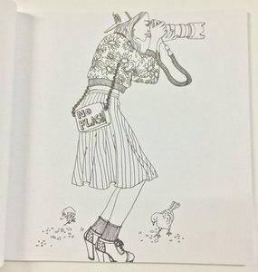 Image 2 - ファッション外観塗り絵アダルトチルドレンのための女の子抗ストレス絵画シークレットガーデンぬりえアカウントサービス