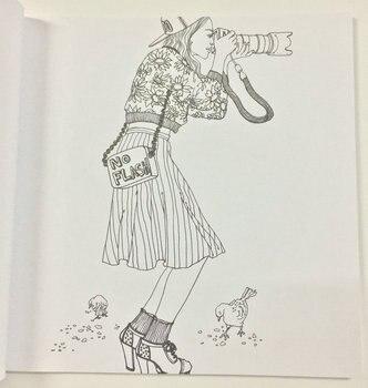 Moda Bakmak Icin Boyama Kitaplari Yetiskin Cocuk Kiz Antistres