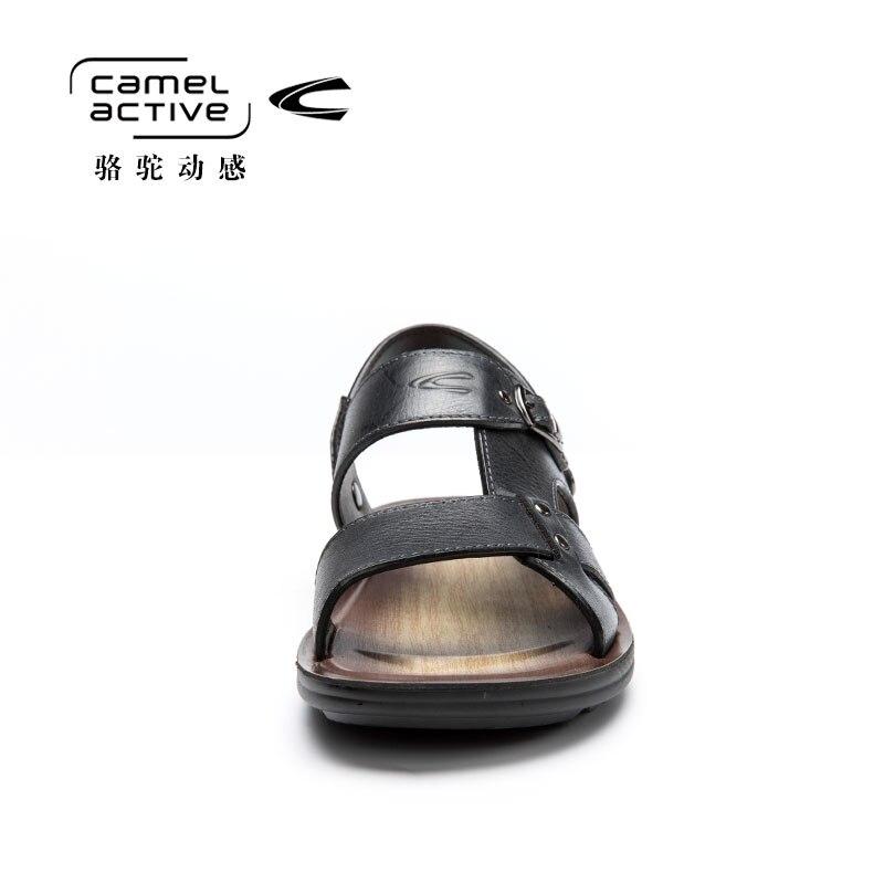 Camel Active Летние босоножки из натуральной кожи для Для мужчин Уличная дышащая пляжная обувь противоскользящие прогулки тапочки 157264102