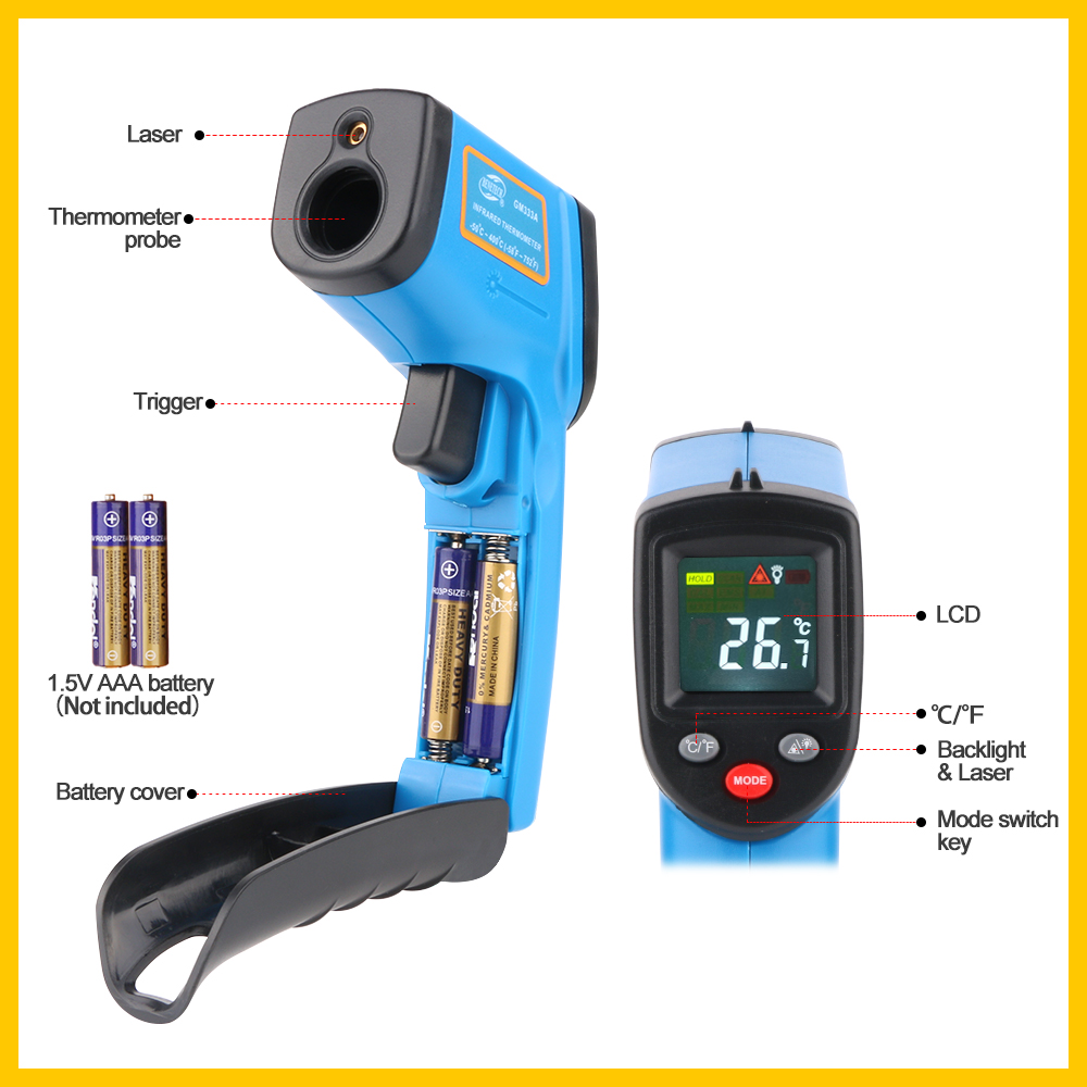 Digital Thermal Imaging Camera With Comfortable Handheld And Color Display 4