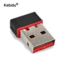 Kebidu 10 unids/lote Mini USB 150M de la red LAN tarjeta de WiFi del adaptador inalámbrico 802,11 n/g/b RT 150Mbps para teléfono cuaderno Pro aire Win Xp