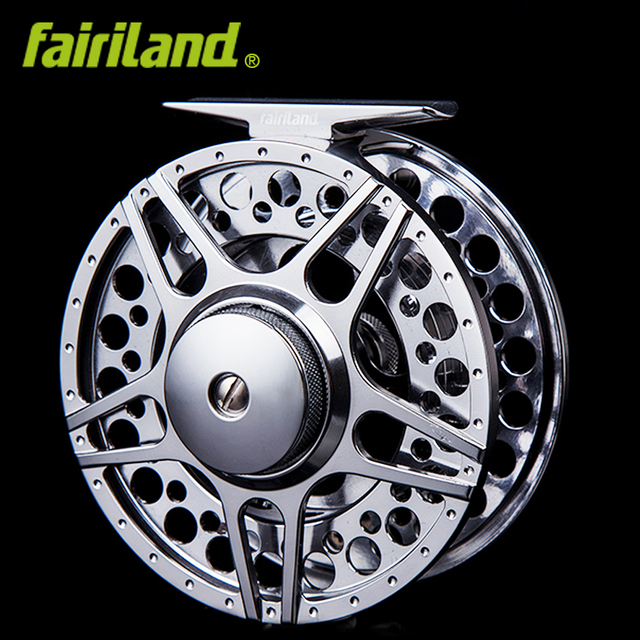 """Best Price 5/6 90mm 3.54"""" 2BB+1RB METAL fly wheel LARGE ARBOR design PRECISION MACHINED fly reel from BAR-STOCK aluminum fishing reel"""