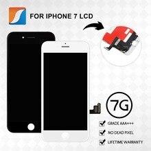 עבור iPhone 7 LCD עם 3D כוח מגע מסך עצרת 100% אצבע הדפסת נבדק החלפת תצוגה לא מת פיקסל משלוח חינם