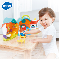 HOLA 3128A Simulation House Miniature Furniture DollHouse Accessories Toys Wood Furniture Set Dolls Baby Room For Kids Play Gift
