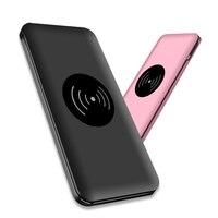 Ulta Thin 10000mAh Power Bank QI Wireless Charger Fast Charging Powerbank External Battery For iPhone 8 X XR XS Samsung Xiaomi