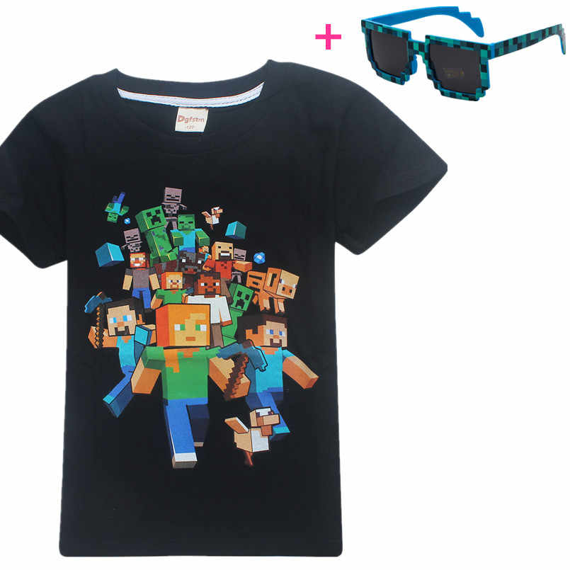 d499d6abebc7e Minecrafts game boy clothes kids Summer cotton Top baby girls boys T-shirts  unicorn t shirt clothing roblox cartoon costume
