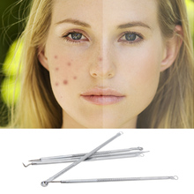 Stainless Steel Acne Extractor Removing Tool Face Skin Care Blackhead Blemish Pimple Remover Comedone Extract Ance Needle (5 pcs)