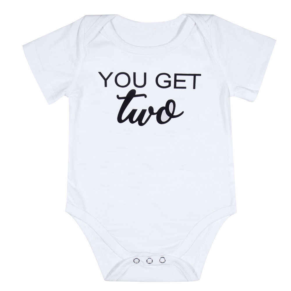 4bab031364fb6 1PCS Twins Baby Boys Letter Bodysuit Funny Printted Bodysuit Matching  Brother Summer Boys Clothes Outfits