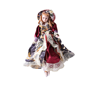 Victorian Costume Beautifully Ornate Ceramic Doll