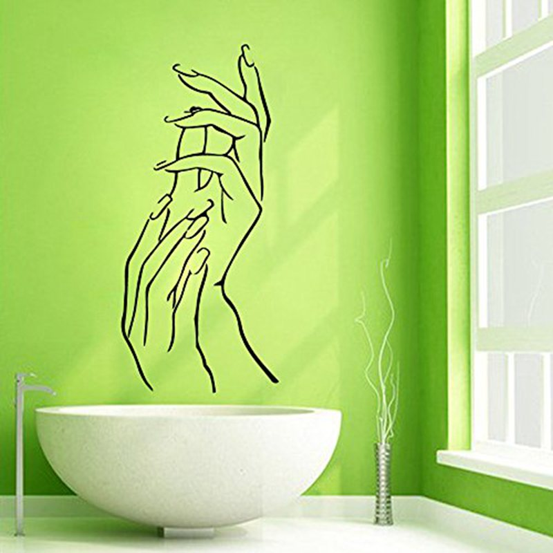 barra de uas salon decal sticker chica spa masaje belleza posters calcomanas de vinilo de pared