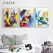 Nordic Style Abstract Canvas Painting Wall Art for Living Room Color Posters and Prints Scandinavian Decor