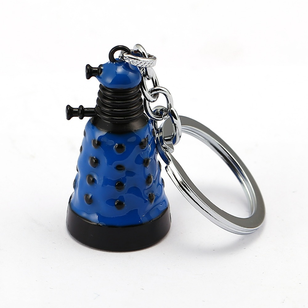 Doctor Who Keychain 3 colors Robot Dalek bell Key Chain Key Ring Holder Pendant Chaveiro Movie Jewelry Souvenir