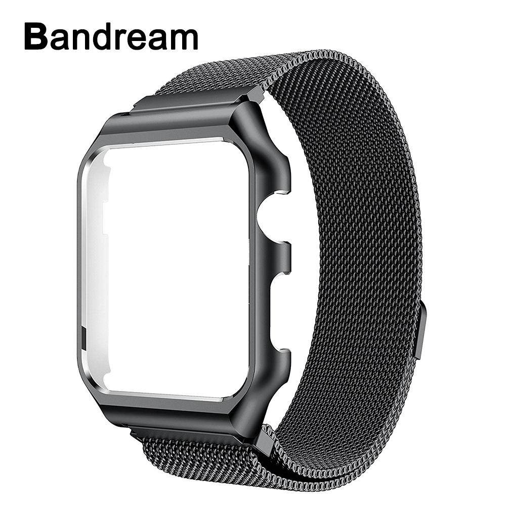 Milanese Loop Band + Metal Frame for iWatch Apple Watch 38mm 40mm 42mm 44mm Series 4 3 2 1 Watchband Stainless Steel Wrist StrapMilanese Loop Band + Metal Frame for iWatch Apple Watch 38mm 40mm 42mm 44mm Series 4 3 2 1 Watchband Stainless Steel Wrist Strap